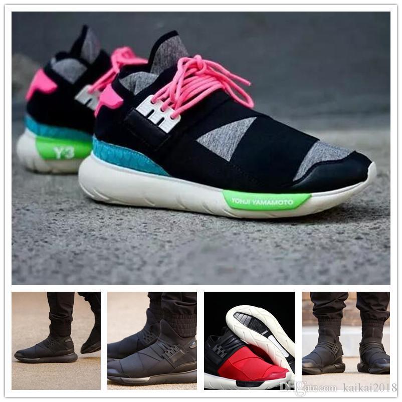 low priced a4bba 97455 Zapatillas De Deporte Para Hombre Al Por Mayor Y3 Qasa Womens Trainer  Famous Shoe Unisex Classic Y 3 Negro Rojo Gris Zapatillas De Deporte Por  Kaikai2018, ...