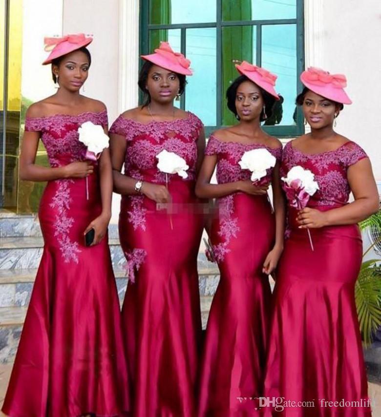 Hot South African Mermaid Bridesmaid Dresses Off Shoulder