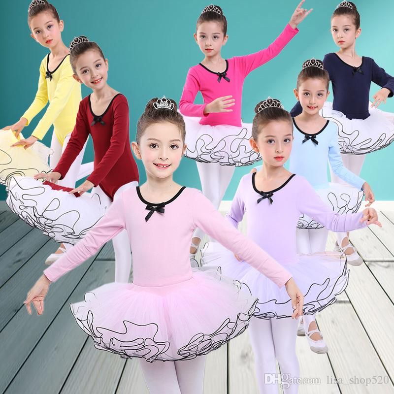 3bc6725544f7 2019 2018 Fashion Princess Ballerina Fairy Party Costume Child Girls ...