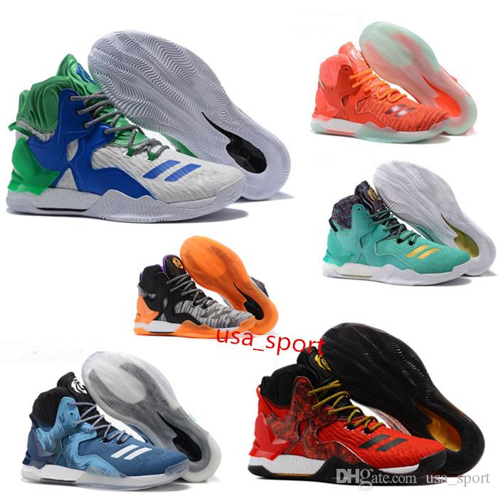 d97cff1d8c3 2018 New D RoSe 7 Basketball Shoes Black Gold DeRRick 7 7s Florist City  Boost Sport Sneakers Size 7 12 Shoes For Men Athletic Shoes From Usa sport