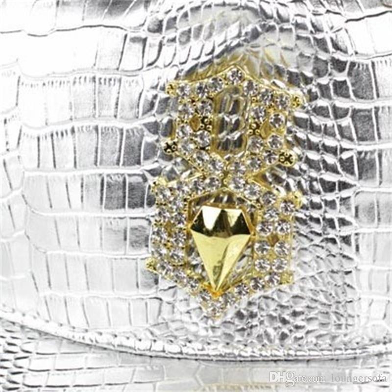Hiphop Hats Leather Adjustable Crocodile Grain Snap Back Hat Men Women Sports Baseball Caps Street Style 13 5jd V