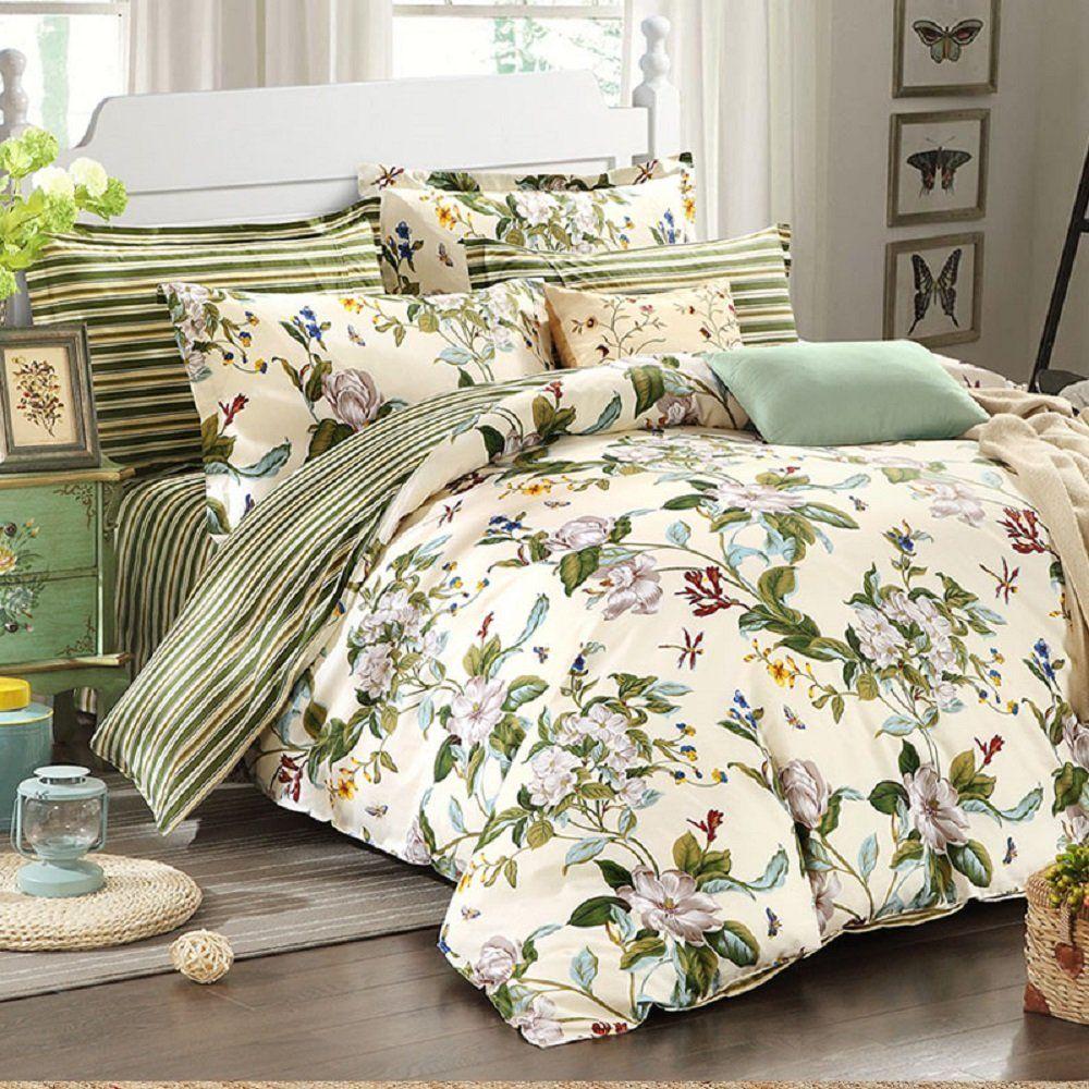 Compre WINLIFE Floral Ropa De Cama American Country Style Funda Nórdica  Conjunto Shabby Vintage Bedroom Set Niñas Cama Cubierta 100% Cama Coon A   129.59 Del ... e492e43f19f