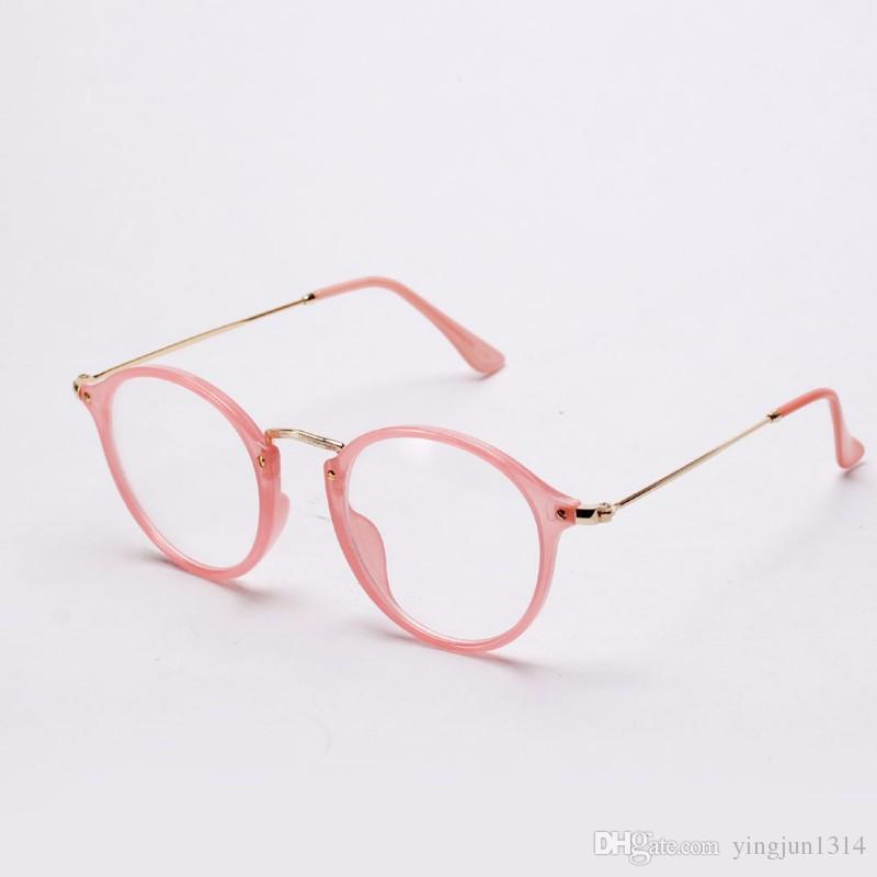 Atacado Mulheres Homens Do Vintage Rodada Armações de Óculos Retro Óculos Ópticos Óculos de Armação Óculos de Proteção Oculos frete grátis