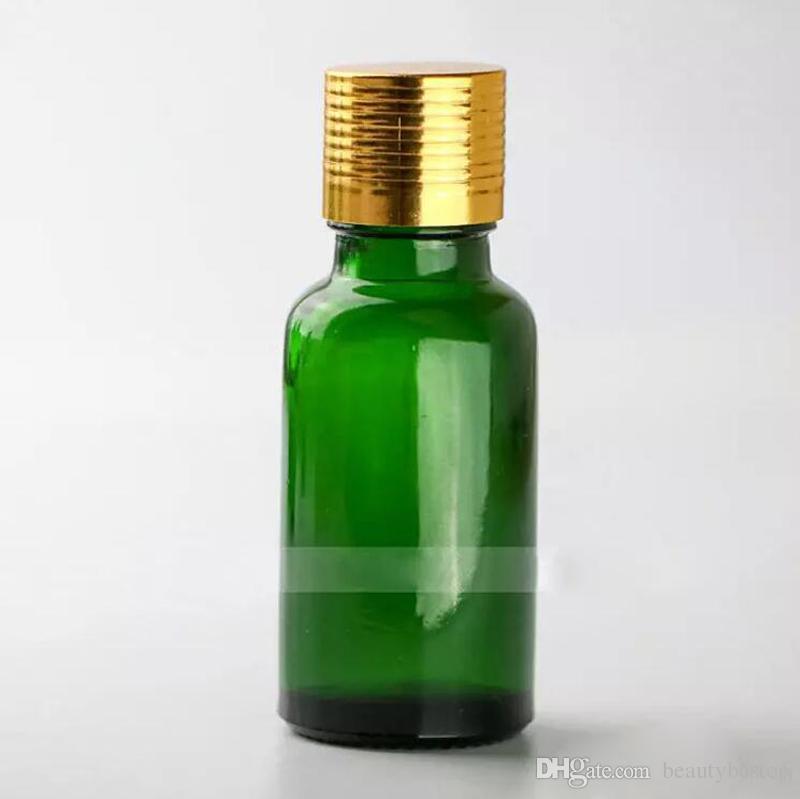 / Green 20ml Bottiglie di vetro con tappo a vite Tappo a vite 20ml Bottiglie di olio essenziale vuoto Bottiglie di fiale liquide In magazzino