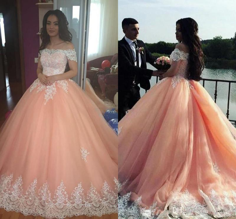 53a9ba8e214ca Luxury Vestidos De Quinceanera New 2018 Sweet 16 V Neck Quinceanera Dresses  Ball Gown Tulle For 15 Years Backless Beads Evening Dress