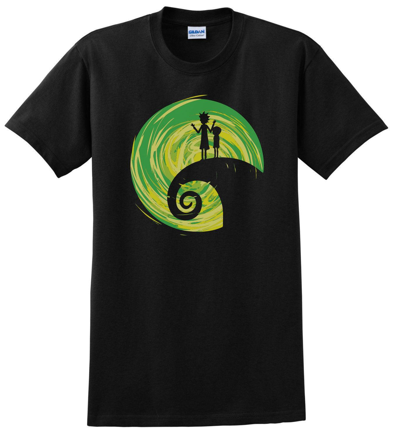 R&M The Nightmare Before Christmas Mash Up Comedy T Shirt T Shirt ...