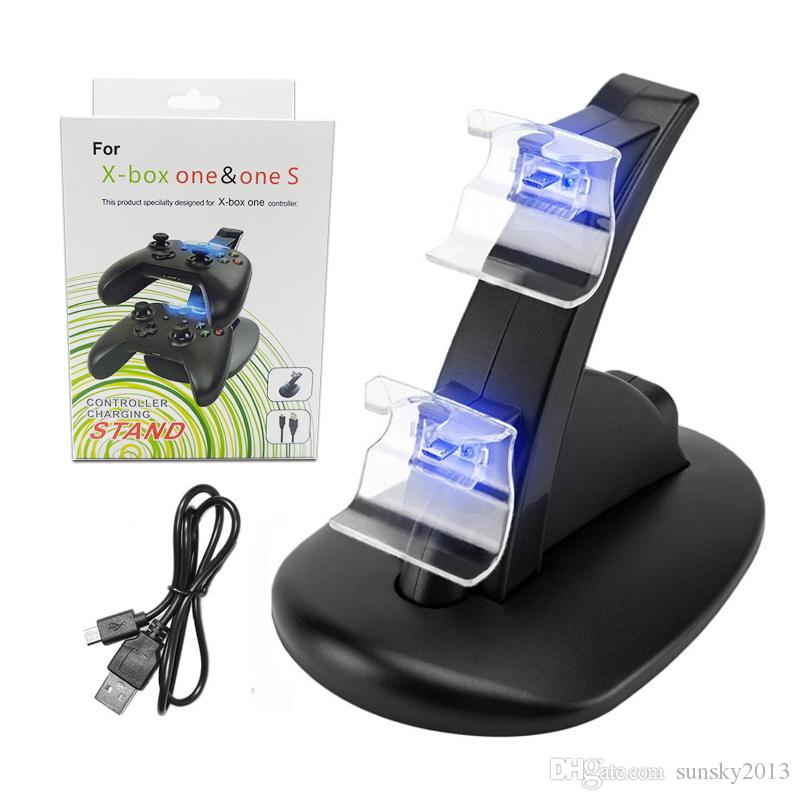 Dual Game Controllers Charging Dock Stand Station for Xbox One Xbox Ones Game Gaming Wireless Controller Console