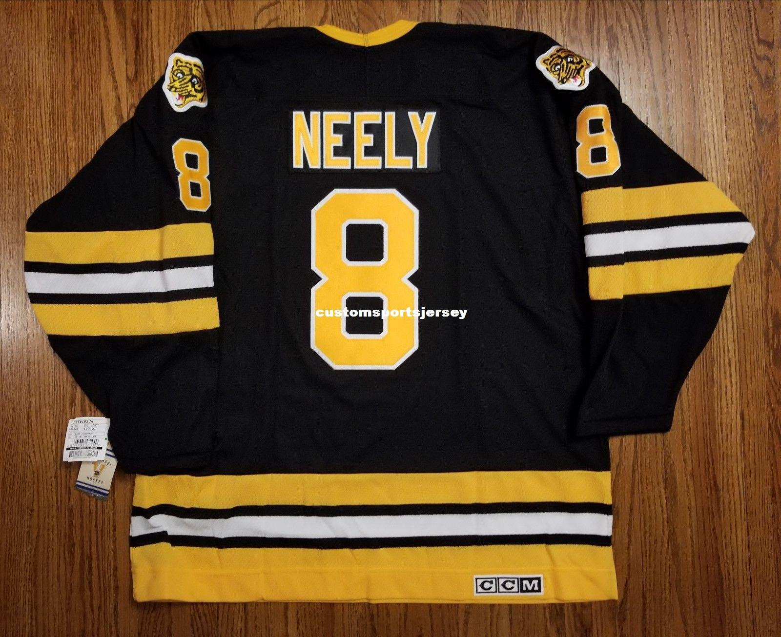 Cheap custom NEELY #8 Vintage CCM Boston Bruins Jersey Black NEW Mens Personalized stitching jerseys