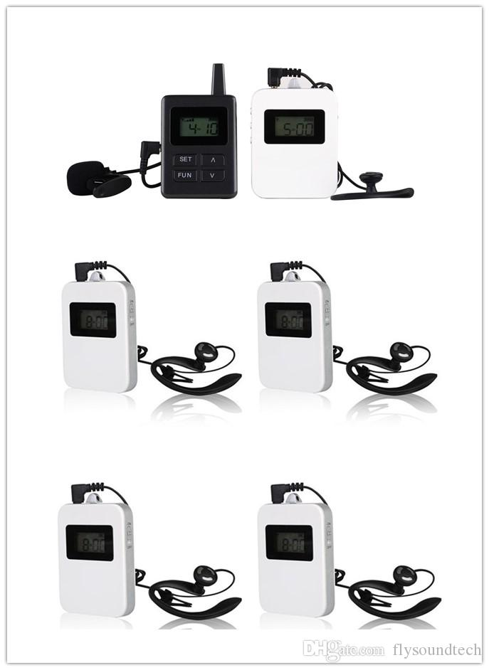 Radio Guide System For Tour Guiding Simultaneous Translation Museum  Visiting Coaching Church Assistive Listening 1 Transmitte+5 Receivers Video  Microphone ... 0990182d6