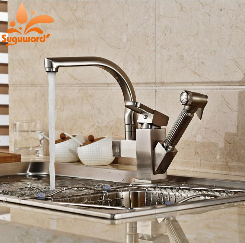 2019 Kitchen Sink Faucet Hot And Cold Water Mixer Taps High Pressure