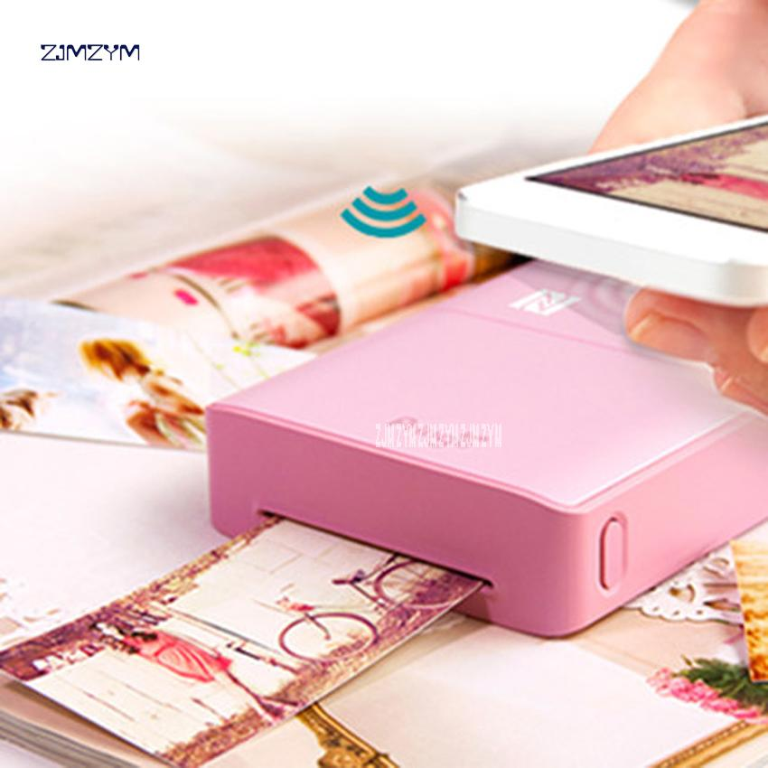 info for d87e0 b627d P232 Portable Mini Pocket Photo Printer Wireless Bluetooth Support Android  iOS Smartphone Color Printing 60s Print speed pink