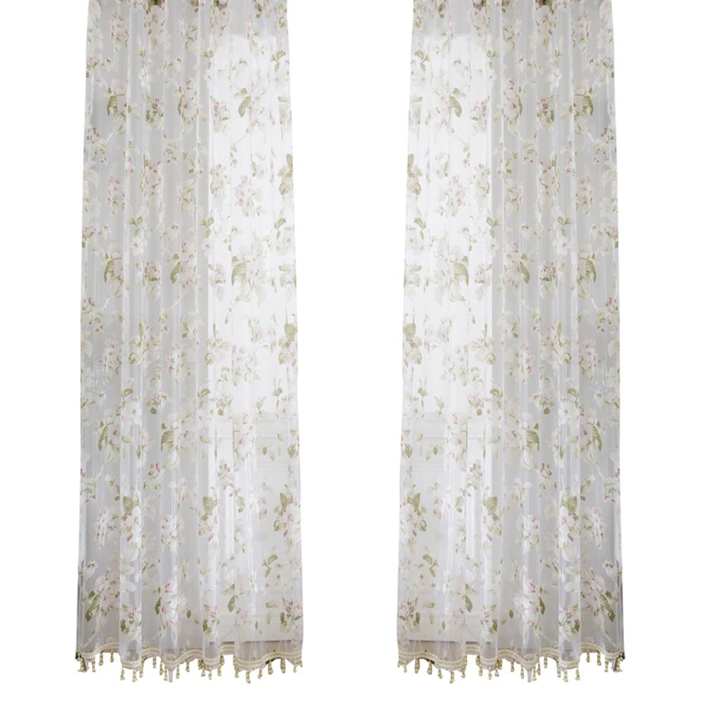 Best orchid flower sheer curtains window screen window gauze door scarf drapes valance for room decor pink under 39 52 dhgate com