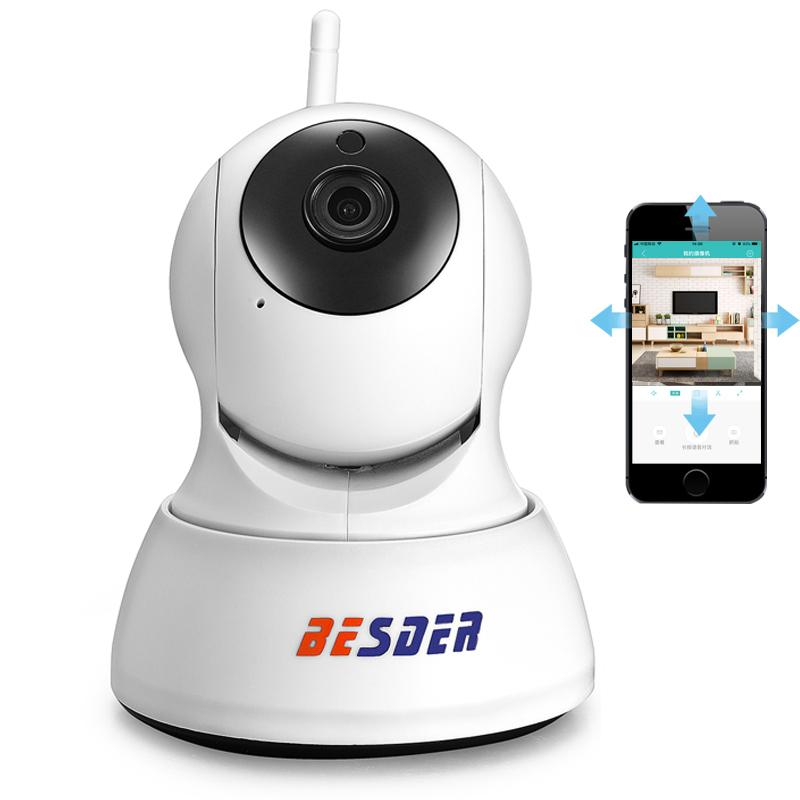 29f7a787364 Compre BESDER HD 720P Cámara IP Wifi PTZ Seguridad De Dos Vías De Audio  Visión Nocturna Smart CCTV Vigilancia Cámara IP Inalámbrica P2P Cloud ICSee  A  32.1 ...