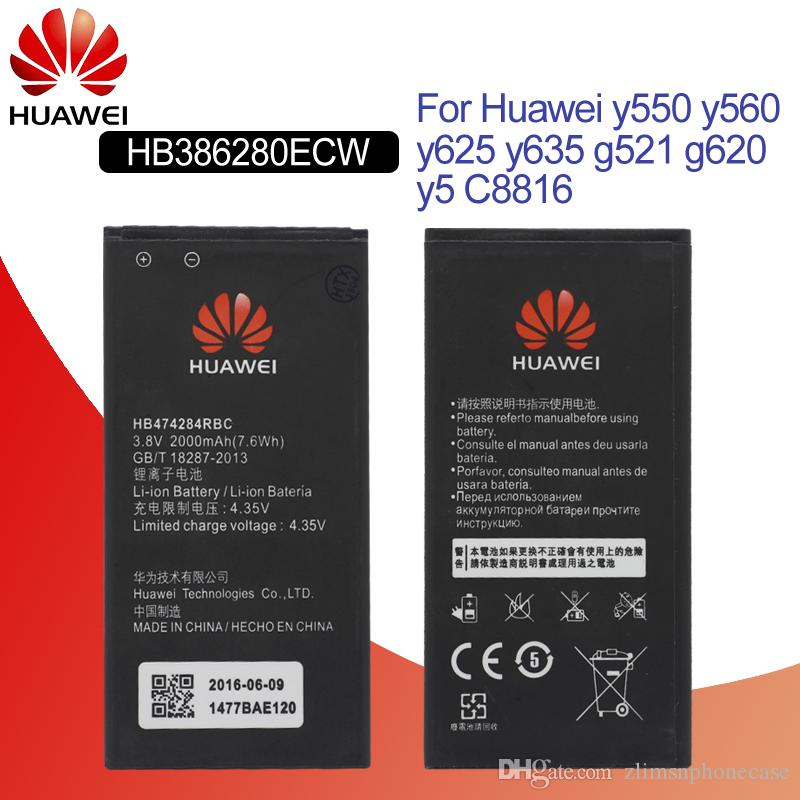 4fd92b8a462 Hua Wei Phone Battery HB474284RBC For Huawei Y550 Y560 Y625 Y635 G521 G620  Y5 C8816 Honor 3c Lite Replacement Batteries 2000mAh Batteries For Cell  Phones ...