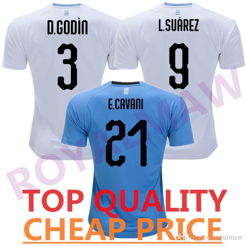 738f825a8 Cheap Wholesale Uruguay Jersey 2018 World Cup GODÍN SUÁREZ Camiseta ...