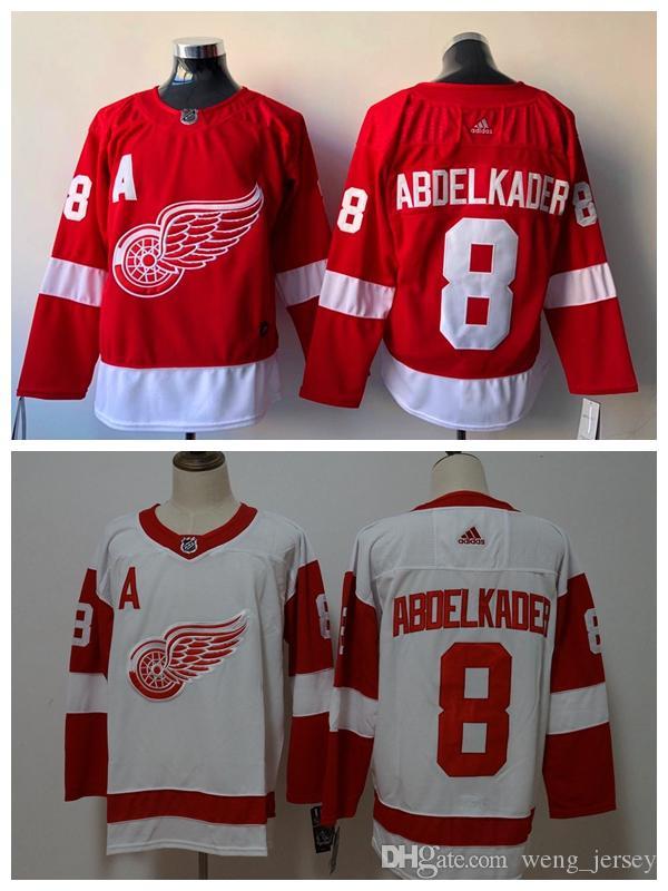 bd43cc623 2019 Mens 8 Justin Abdelkader Detroit RedWings Hockey Jerseys ...