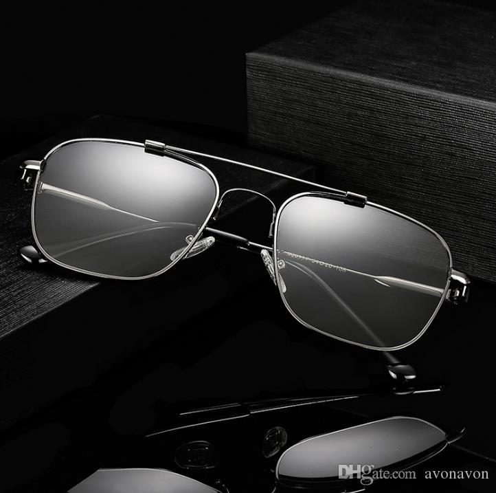 polarized Eyewear googles glasses eyeglasses Square smart changed color metal sun glasses classic retro TOP men's sunglasses A358