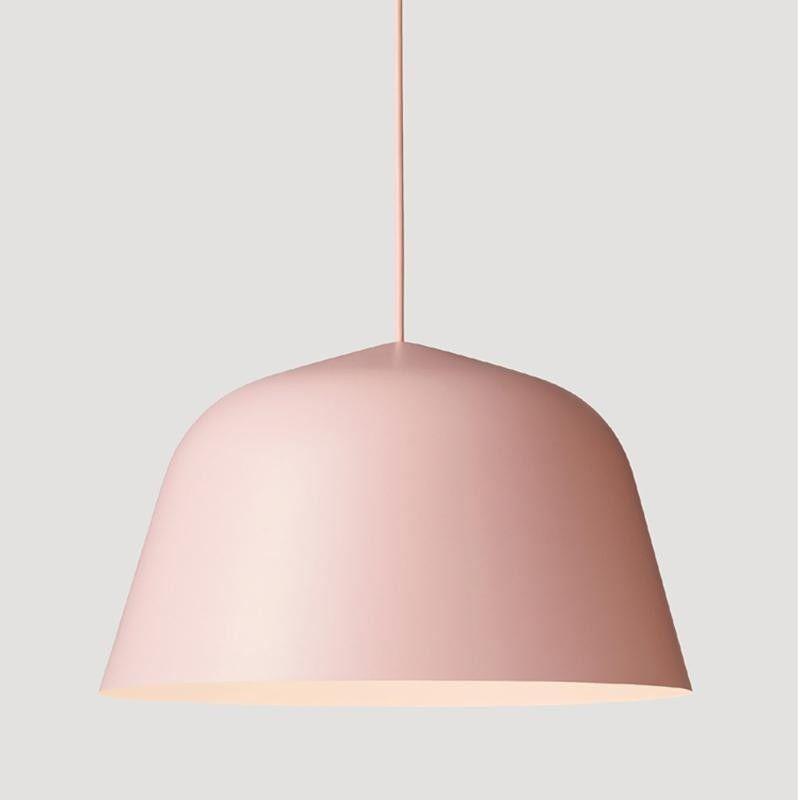Fast shipping Danish Muuto Ambit Metal Pendant Light Nordic Minimalism Paint Colored Aluminium E27 Led Suspension Lamp For Dining Room