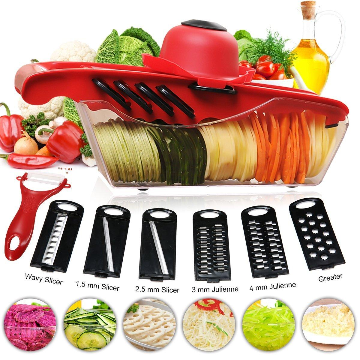 Sparschäler Streifenschneider/Spiralschneider für Gemüse-Spaghetti Edelstahl Kartoffelschäler/Gemüseschneider für Obst und Gemüse