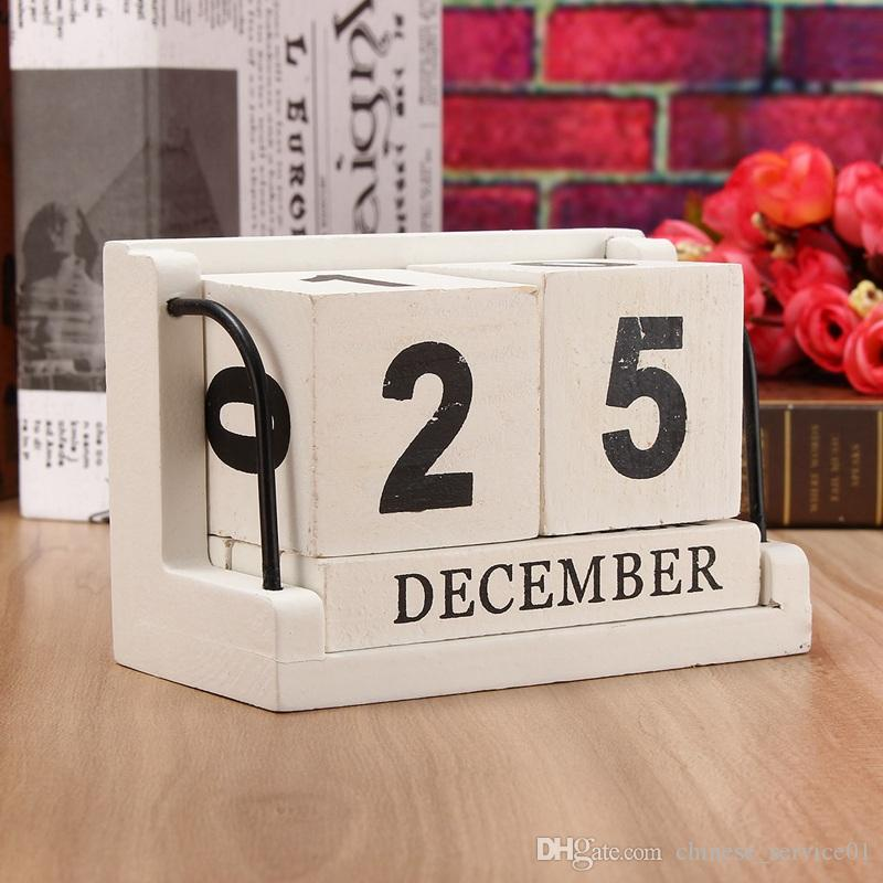New Vintage Style Pp Perpetual Calendar Diy Calendar Art Crafts Home Office School Desk Decoration Gifts Sale Price Calendars, Planners & Cards