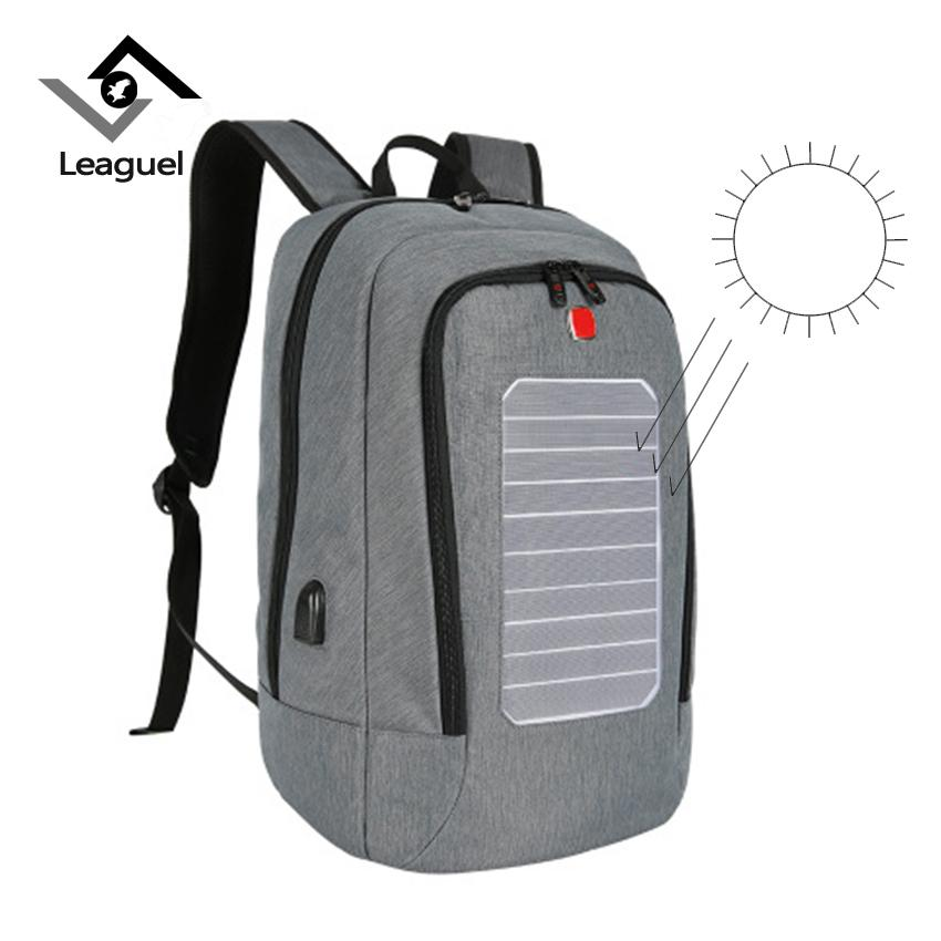 7de07c8d23 Leaguel Solar Charging Men Backpacks 19 Inches Convenience Laptop Backpack  Anti Theft Waterproof Travel Bag Teenager Rucksack Batman Backpack Running  ...