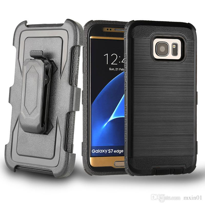 Clip da cintura resistente all'usura ibrida 3 in 1 iPhone X 8 7 6 Samsung S7 Edge S8 S9 Plus Nota Note8 ON5 G530 J2 J3 J5 J7 Prime