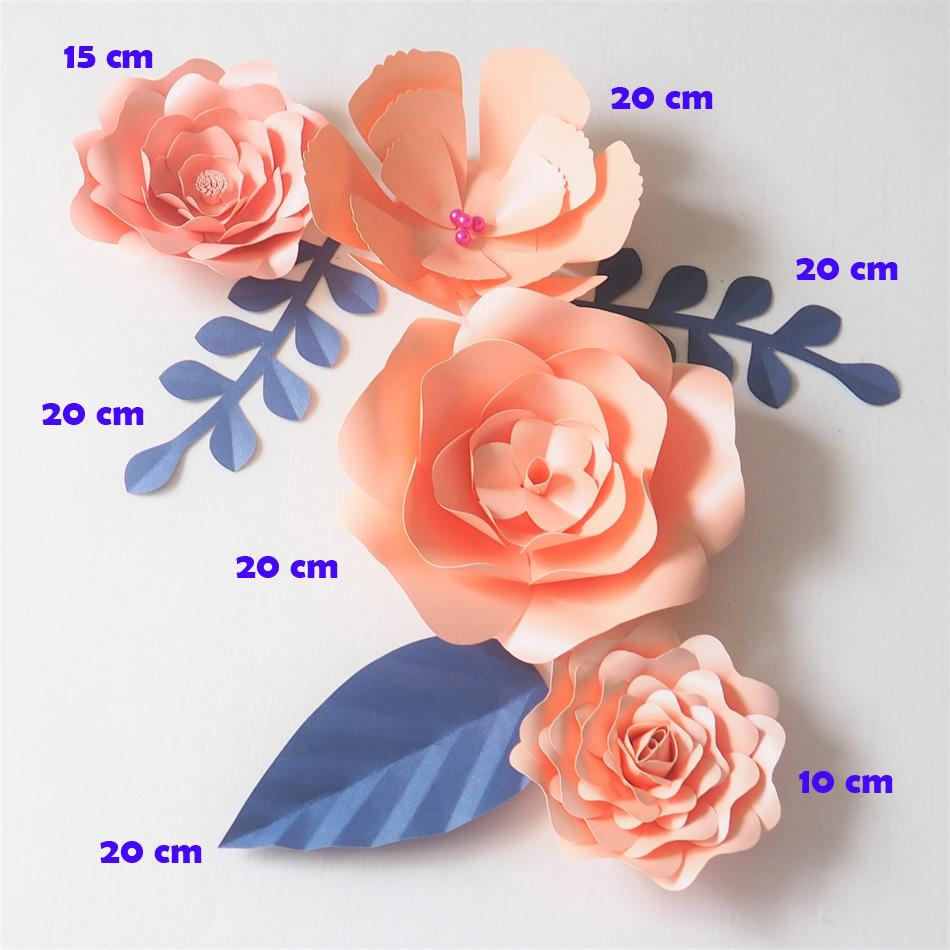 Diy Giant Paper Flowers Backdrop Artificial Glittered Pink Flower