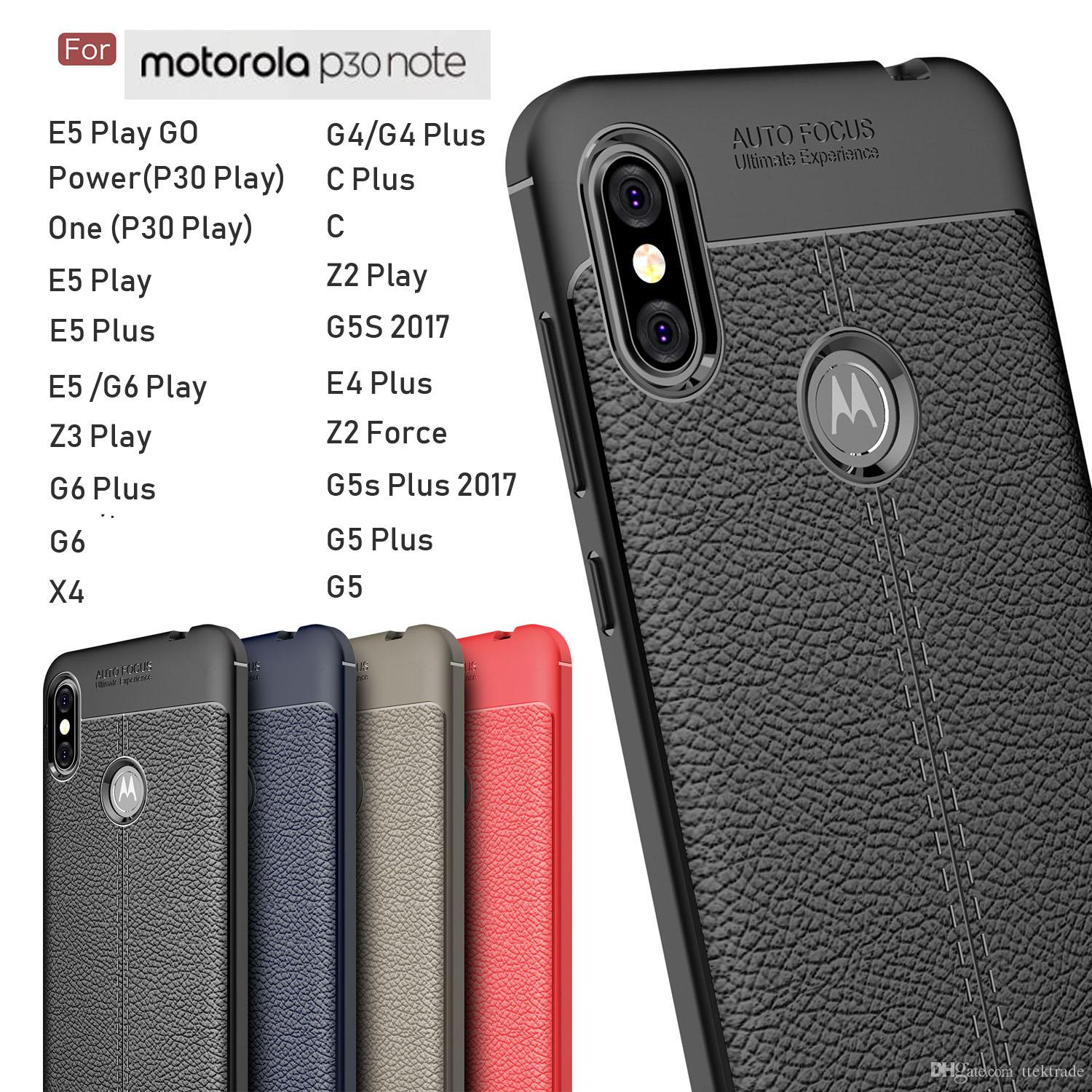 online retailer f6e04 3c0b5 Luxury Leather Skin Case Soft TPU 360 Shockproof Protective For Motorola  P30 Note Power One P30 Play E5 Play Go Slim Ultra Thin Cover Coque