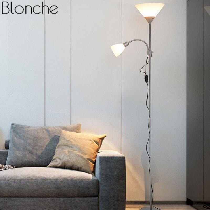 2019 Modern Nordic Design 2 Lights Night Floor Lamp Stand Light Living Room  Hotel Adjustable Fixtures E27 LED For Bedroom Home Lamp From Tengdinglamp,  ...