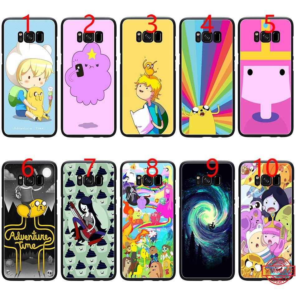 huge discount 65452 8d22b Adventure Time Lumpy Space Princess Soft Black TPU Phone Case for Samsung  Note 9 8 S8 S9 Plus S6 S7 Edge Cover