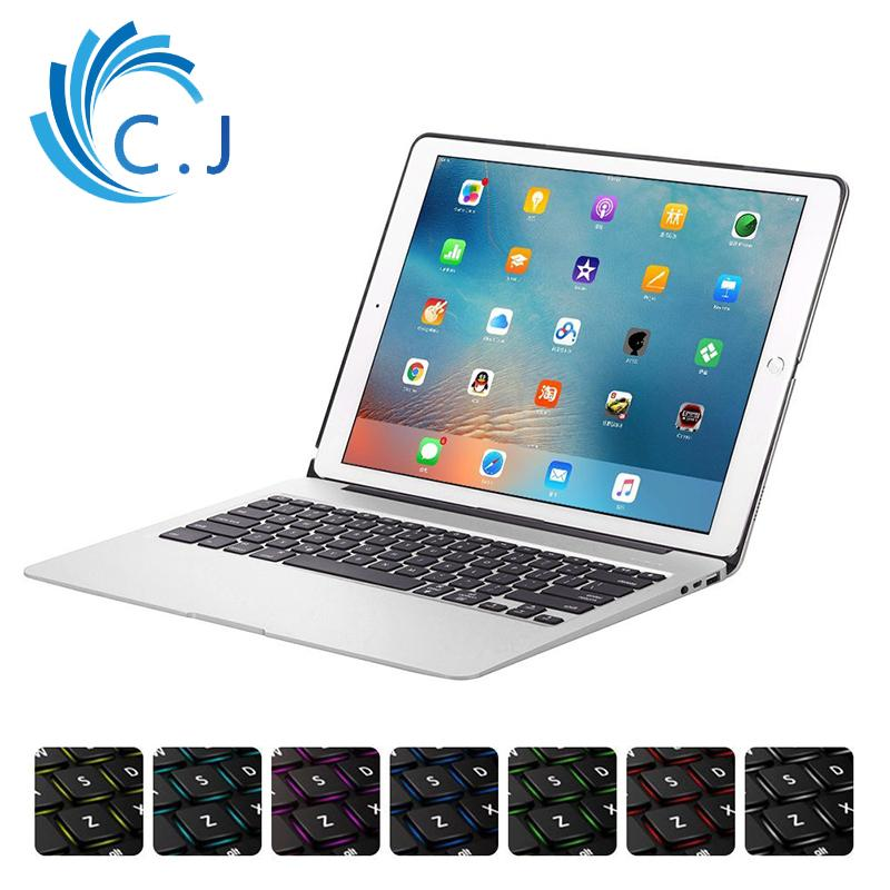e8d9c98a0b3 CJ Bluetooth Wireless Keyboard Cover For IPad Pro 12.9 With Aluminium Alloy  Case Backlit,Power Bank Best Gaming Keyboards Best Keyboard From  Forsecurity, ...