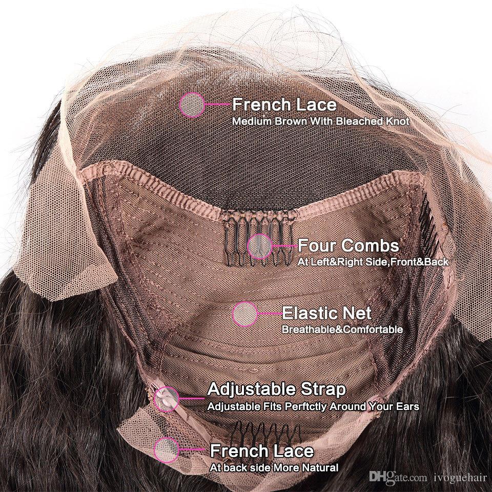 Miel Rubia Ombre Pelucas delanteras del cordón Parte media de la Virgen de Malasia Suelta Glulees del pelo humano Pelucas llenas del cordón Ombre # 1B / 27