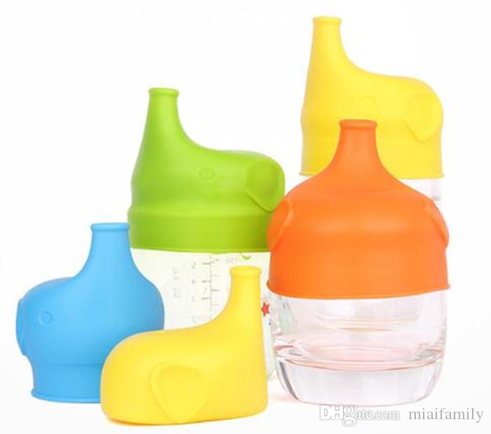 Silikon Sippy Deckel Nippel Deckel für jede Größe Kinder Becher Kleinkinder Auslaufbecher für Säuglinge und Kleinkinder BPA DHL-freies Verschiffen