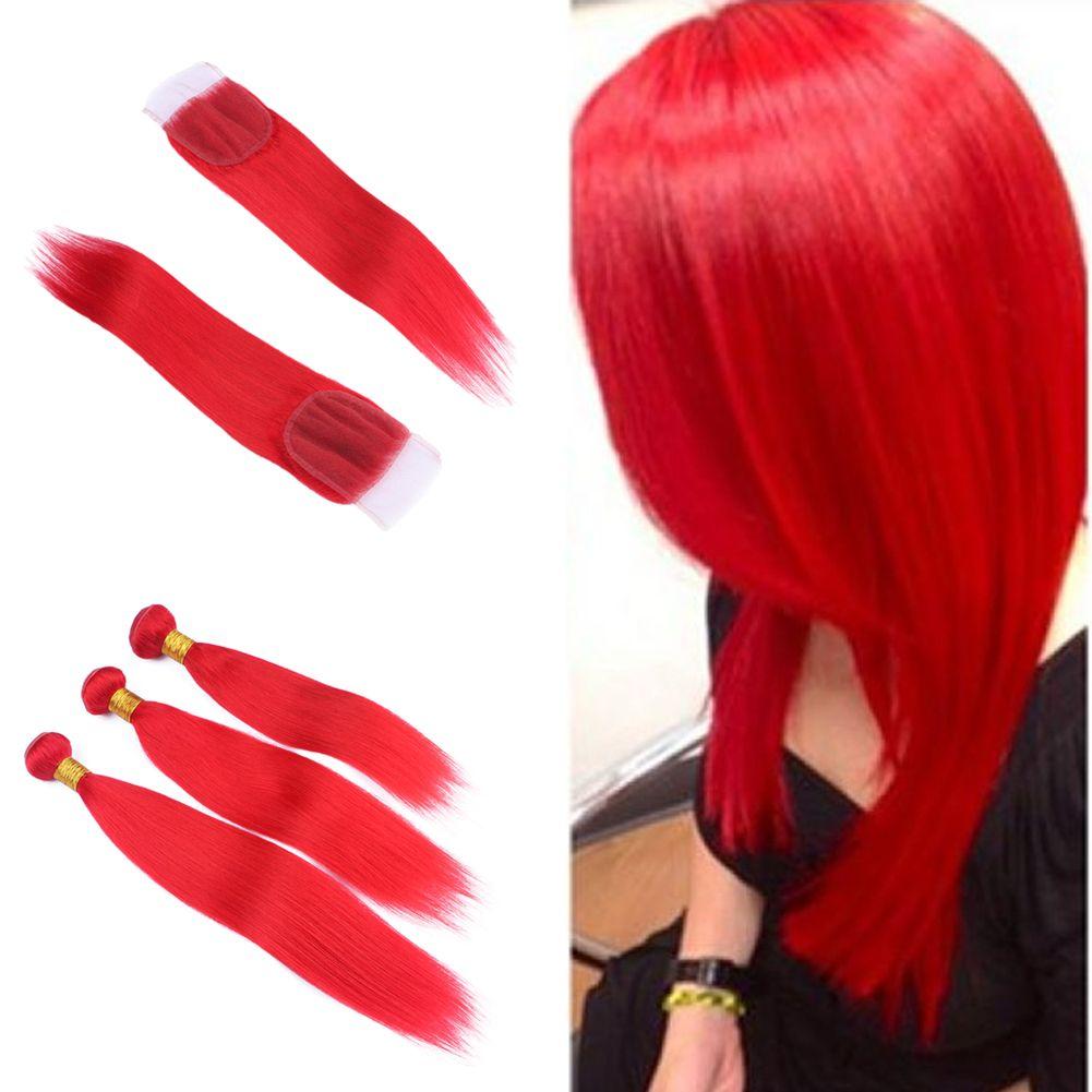 Grosshandel Neue Produkt Populare Rote Farbe Brasilianisches Haar
