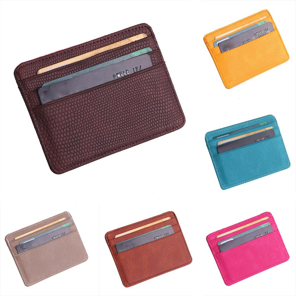 ebf65b22a4 Fashion Women Card Holder Lichee Pattern Bank card holder wallet Package  Coin Bag case to protect -15