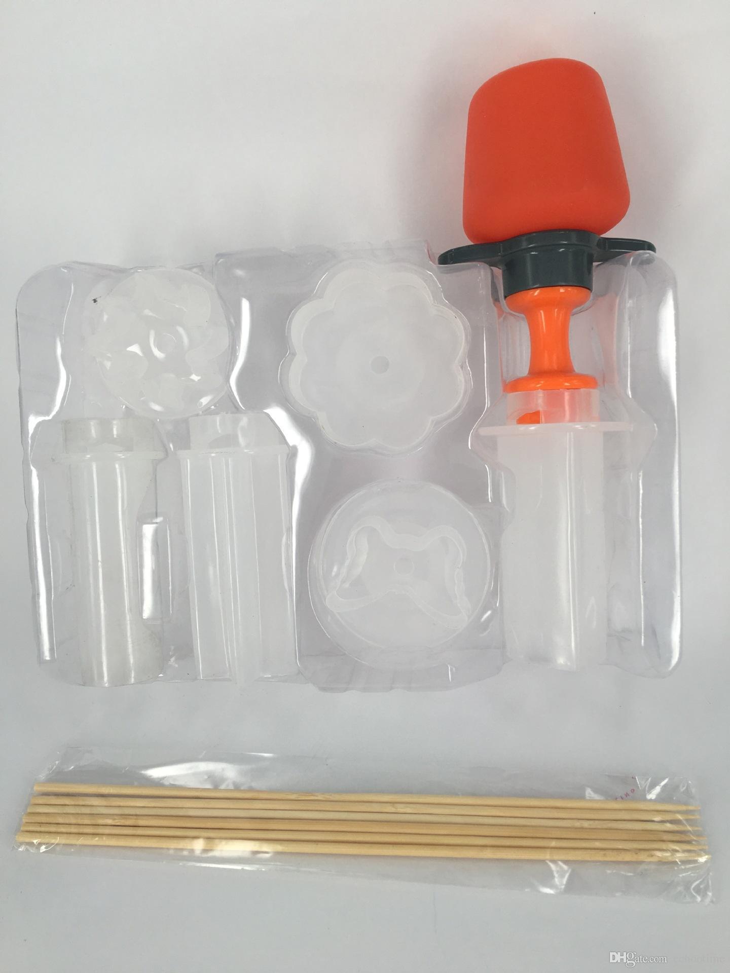 Echootime Kitchen Fruit Tools Plastic Vegetable Fruit Shape Cutter Slicer Veggie Food Snack Maker Cake Decorator Game