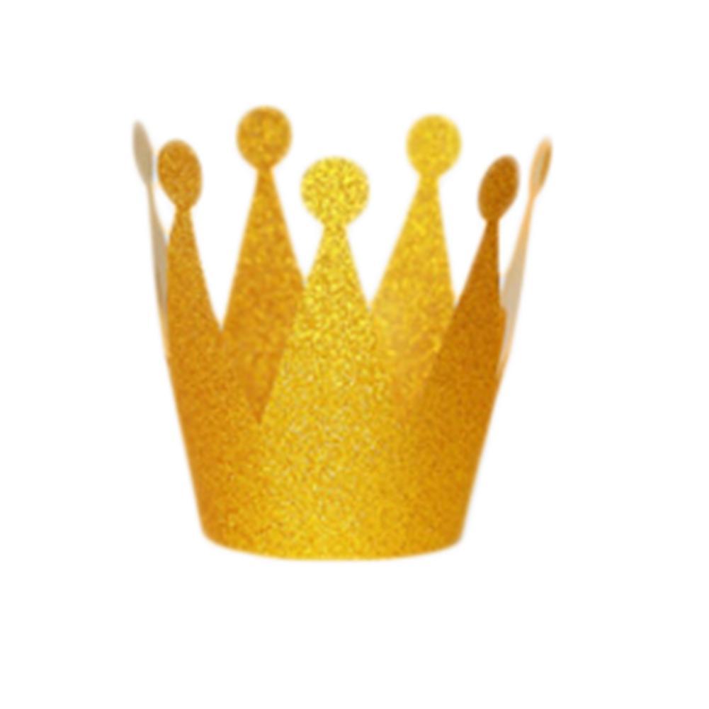 Acquista 6 Pz   Lotto Glitter Piccolo Principe Principessa Plastica Corona Cappelli  Festa Di Compleanno Baby Shower Bambini Decorazioni Di Compleanno Party ... 2feb2f655870