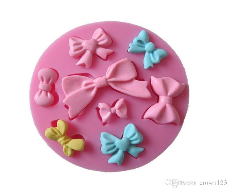 Super 8 Cavity Assorted Bows Silicone Mould Fondant Sugar Mini Bow Craft Molds DIY Cake Decorating