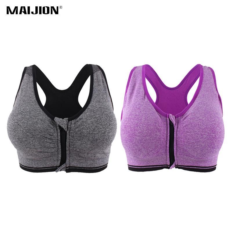 46cf2cec86902 MAIJION Women Push Up Fitness Yoga Bras XXXL Size