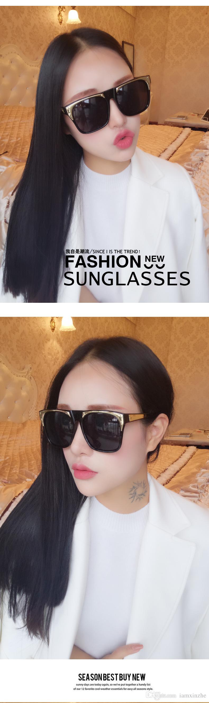 Top quality New street sunglasses fashionable men and women sunglasses color film glasses wholesale with boxes