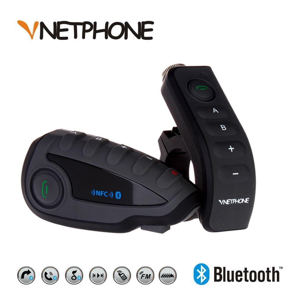 12468985da Compre VNETPHONE V8 Bt S2 Intercomunicador Bluetooth Moto Casco Manillar De  La Motocicleta NFC Control Remoto Casco Del Comunicador Auriculares 5  Jinetes A ...
