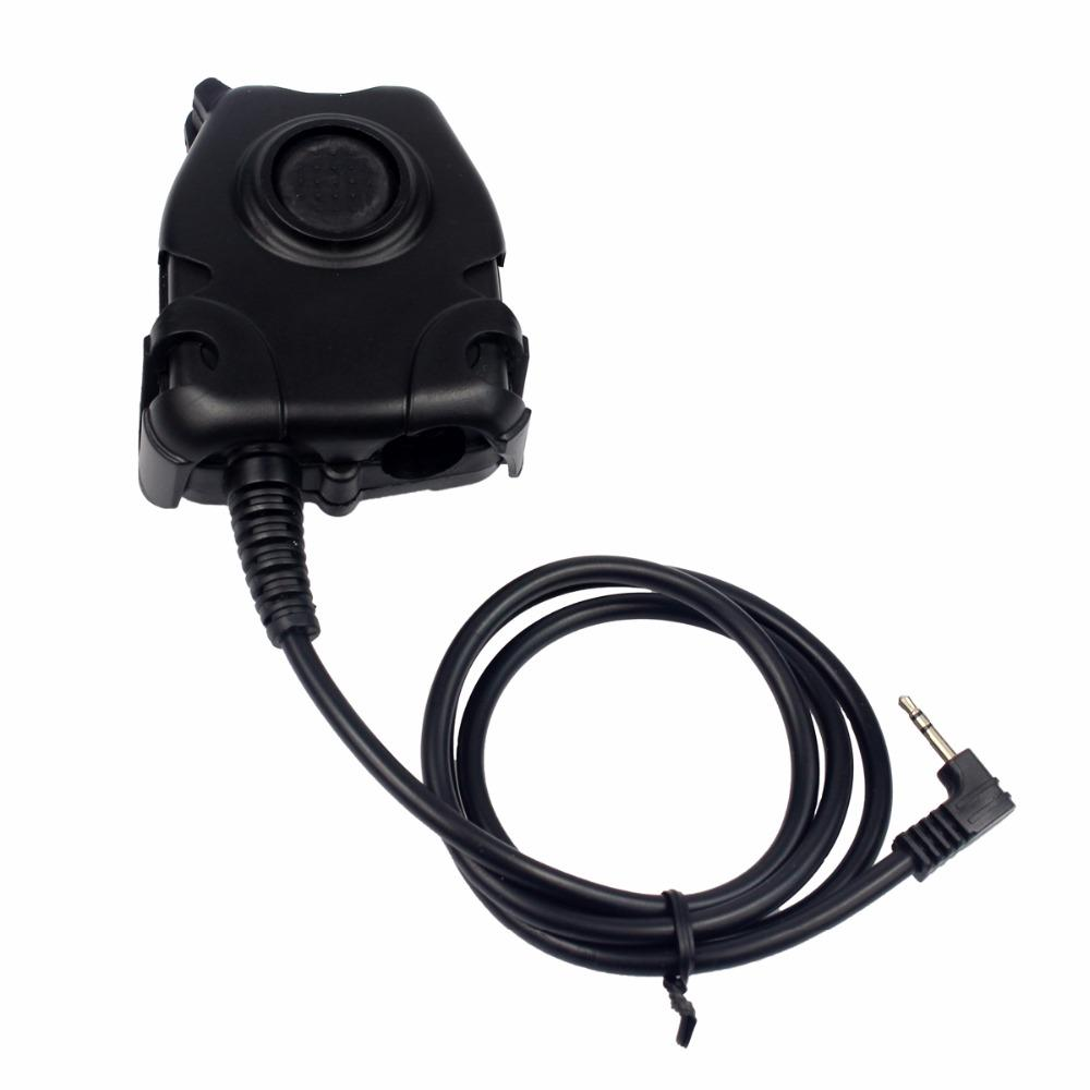 Black Waterproof PTT Cable for Motorola Walkie Talkie T6200 1 PIN for Z  Tactical H50 H60 HD01 HD03 Noise Reduction Headset J6517