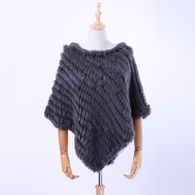 Free shipping spring autumn Genuine Real Knitted  Fur Poncho Wrap scarves women natural  fur Shawl triangle Cape