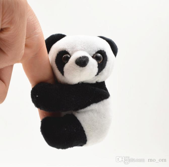Panda Wholesale 10cm panda plush Keychain Cute Cartoon Face Stuffed Plush Doll Toy keyring for Mobile Pendant Pendant Chain Toy Gift