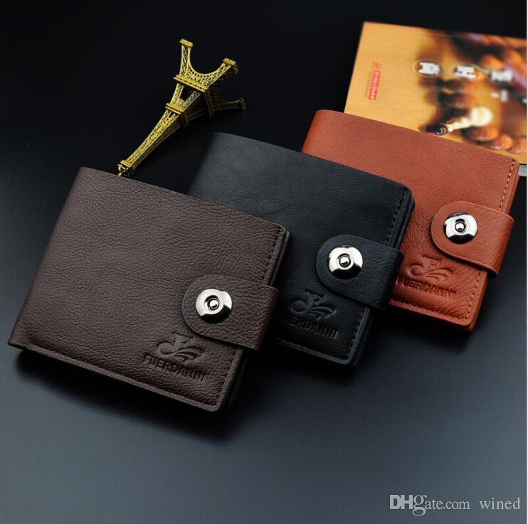 Wholesale For Men Short Wallet Men's Casual Fashion Simulation Leather Wallet Men Wallets Purse Suit Bags Designer Wallet