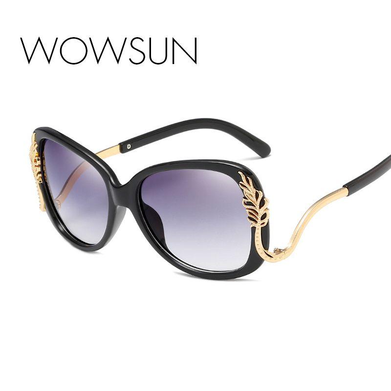 Wholesale Oversize Oval Sunglasses Women Brand Designer Black Red Metal  Frame Eyeglass Gradient Lens Oculos De Sol UV400 A679 Online with  25.04  Piece on ... 54b2781fa0