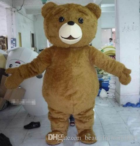 2018 High quality hot Teddy Bear Mascot Costume Cartoon Fancy Dress fast shipping Adult Size