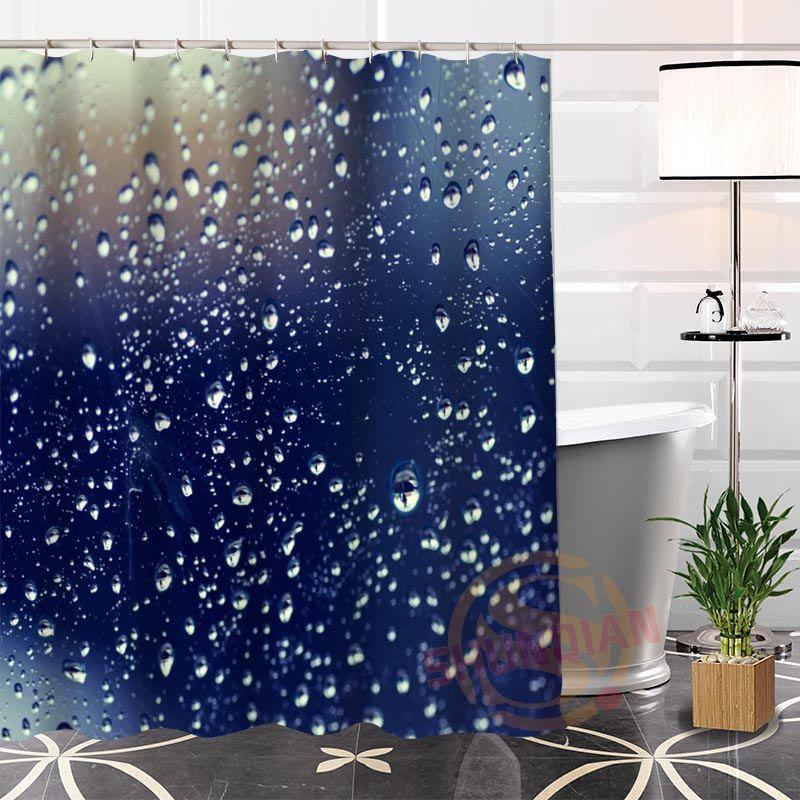 2019 Popular Modern 100 Polyester Custom Raindrop1 Fabric Shower Curtain Bathroom Waterproof High Quality Hot H0223 87 From Caley 2789