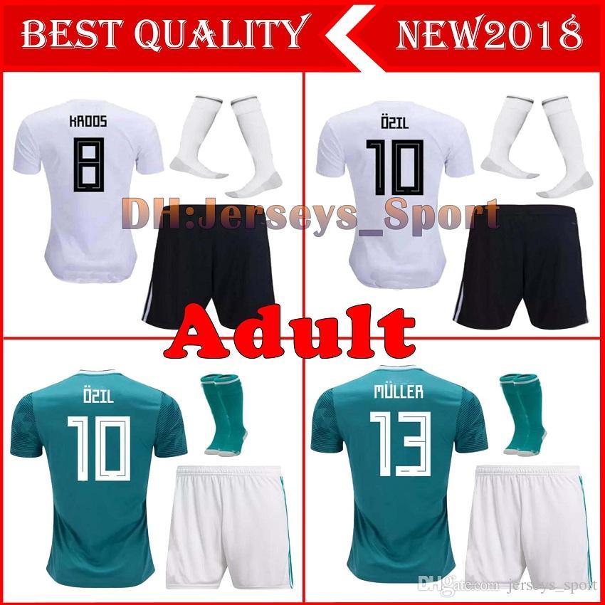 2019 2018 GERMANY Adult Kit Soccer Jersey Away Muller HUMMELS 18 19 World  Cup GORETZKA OZIL KROOS DRAHLER WERNER Men Football Uniform Shirts From ... 6deb7b4da