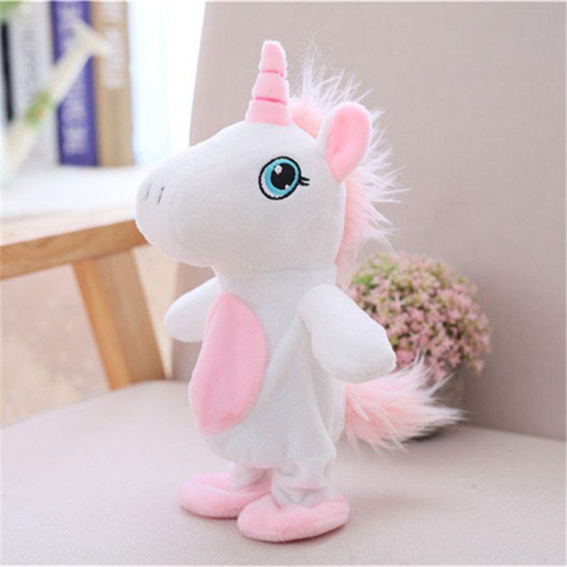 2019 Children Stuffed Plush Toys Voice Recording Cute Unicorn For